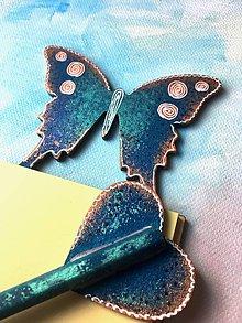Papiernictvo - Magnetické bločky s ceruzkou - Motýľ - 10661061_