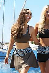 Sukne - Tenisová sukňa hnedá khaki - 10660557_
