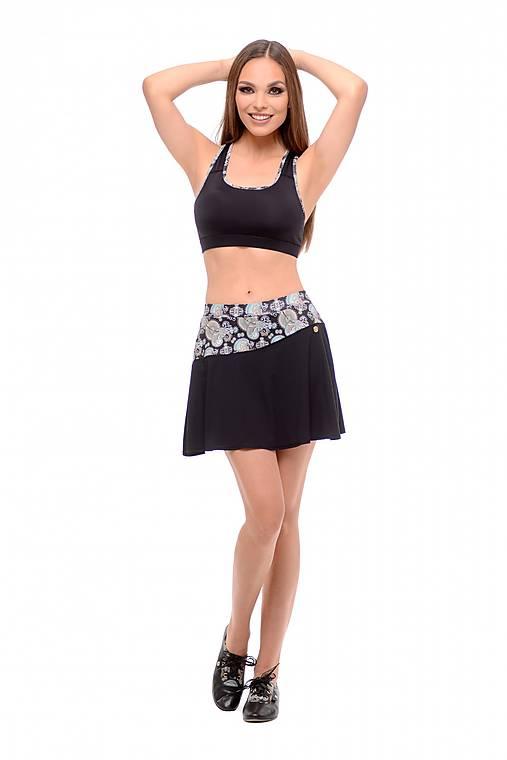 Tenisová sukňa čierna