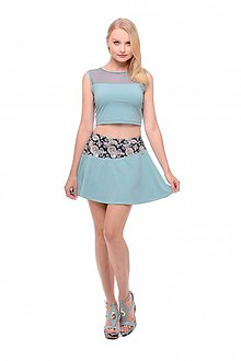 Sukne - Tenisová sukňa modrá - 10660561_