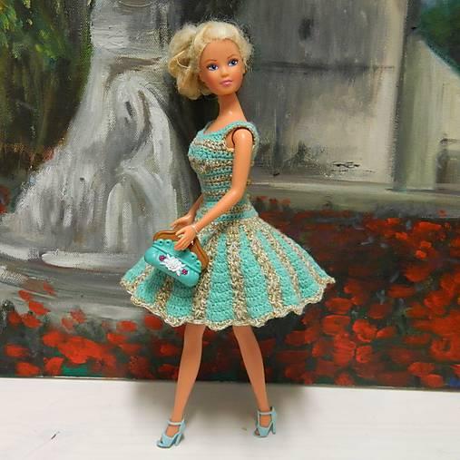 d282c6f76 Barbie háčkované šaty zlatozelené / Laciakova - SAShE.sk - Handmade ...