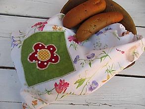 Úžitkový textil - Veľké vrecko plné kvetov - 10660462_