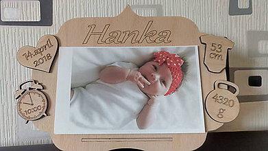 Drobnosti - Foto rámik s údajmi o narodení - 10660610_