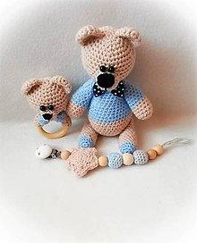 Hračky - Háčkovaný set pre bábätko - 10662160_