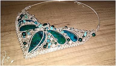 Náhrdelníky - Smaragdovo tyrkysovy - 10662286_