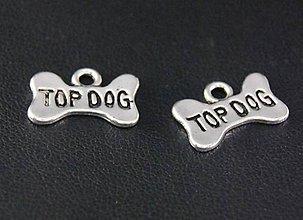 Komponenty - Prívesok kostička TOP DOG - 10661404_