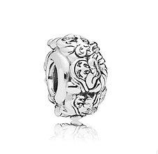 Korálky - Strieborná pandorková korálka trapaslíci - 10661802_