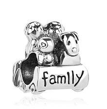 Korálky - Strieborná pandorková korálka FAMILY - 10661803_