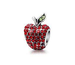 Korálky - Štrasová pandorková korálka jabĺčko - 10661811_