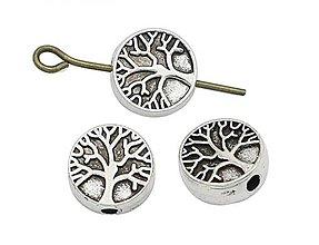 Korálky - Kovová korálka strom života - 10661856_