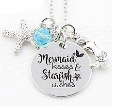 Komponenty - Prívesok MERMAID KISSES STARFISH WISHES - 10662119_