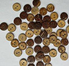 Galantéria - Kokosový gombík 2cm - 10662204_