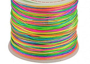Galantéria - Nylon šnúrka 0,8mm multicolor - 10662287_