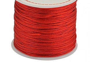 Galantéria - Nylon šnúrka 0,8mm červená - 10662294_