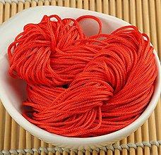 Galantéria - Nylon šnúrka 1mm červená (klbko 30 metrov) - 10662297_