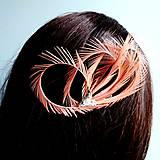 Ozdoby do vlasov - Fascinátor z peria - 10661288_