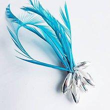 Ozdoby do vlasov - Fascinátor z peria - 10661334_