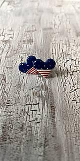 Náušnice - námornícke ♥ s bodko pásikmi - 10660673_