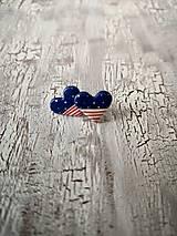 Náušnice - námornícke ♥ s bodko pásikmi - 10660674_