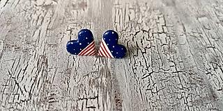 Náušnice - námornícke ♥ s bodko pásikmi - 10660675_