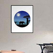 Grafika - Grafika Deň a noc (v kruhu) (safari v noci) - 10661772_