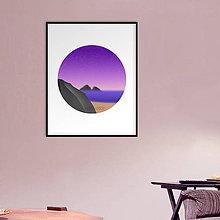 Grafika - Grafika Deň a noc (v kruhu) (pláž večer) - 10661775_