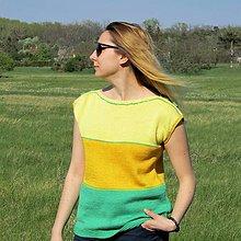 Topy - Žlto zelený top - 10666041_