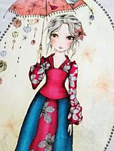 Textil - Midnight Garden - Mirabelle - panel - 10666734_