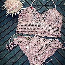 Bielizeň/Plavky - Háčkované plavky - staroružové :) - 10666535_