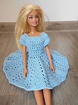 Hračky - Bledomodré šaty pre bábiku - 10665858_