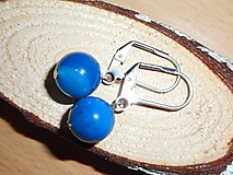 Náušnice - blue agata - 10667732_