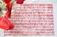 Úžitkový textil - Set štyroch textilných akvarelových prestieraní - Scarlet I. - 10665400_