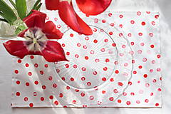 Úžitkový textil - Set štyroch textilných akvarelových prestieraní - Scarlet I. - 10665401_
