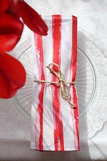 Úžitkový textil - Set štyroch textilných akvarelových prestieraní - Scarlet III. - 10665481_
