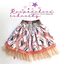Detské oblečenie - Rozprávková suknička jednorožková - losos 98/110 - 10665980_
