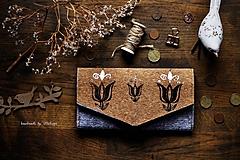 Peňaženky - Bronzový tulipán - 10664531_