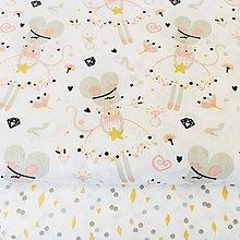 Textil - slečna zajková II; 100 % bavlna Francúzsko, šírka 150 cm, cena za 0,5 m - 10664607_
