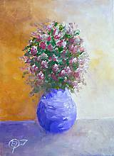Obrazy - Vo fialovej váze - 10667150_