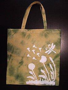 Nákupné tašky - taška - horčicová s púpavou - 10664952_