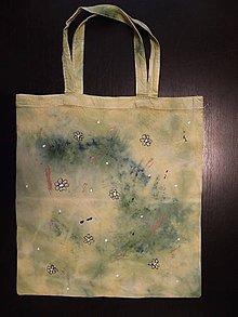 Nákupné tašky - taška - horčicová s drobnými kvetinkami - 10665258_