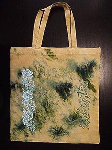 Nákupné tašky - taška - horčicová s ornamentom + - 10665289_