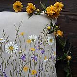 Úžitkový textil - Darčekové balenie vankúsov - lúka - 10665211_