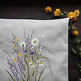 Úžitkový textil - Darčekové balenie vankúsov - lúka - 10665215_