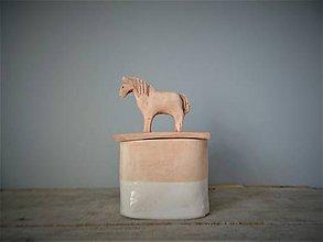 Nádoby - dózička s koníkom v natur štýle - 10666290_