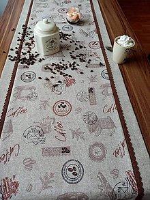 Úžitkový textil - Štóla COFFEE - 10665904_