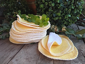 Úžitkový textil - KOZMETICKÉ TAMPONY 10 ks žlté - 10665358_