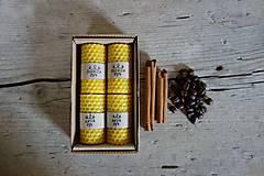 - darčekové balenie sviečok z včelieho vosku- ŠKORICA+KÁVA - 10664869_