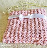 Textil - detská deka-púdrovo ružová - 10666851_