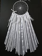 Dekorácie - Lapač snov 20 biely - 10665365_