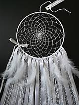 Dekorácie - Lapač snov 20 biely - 10665367_